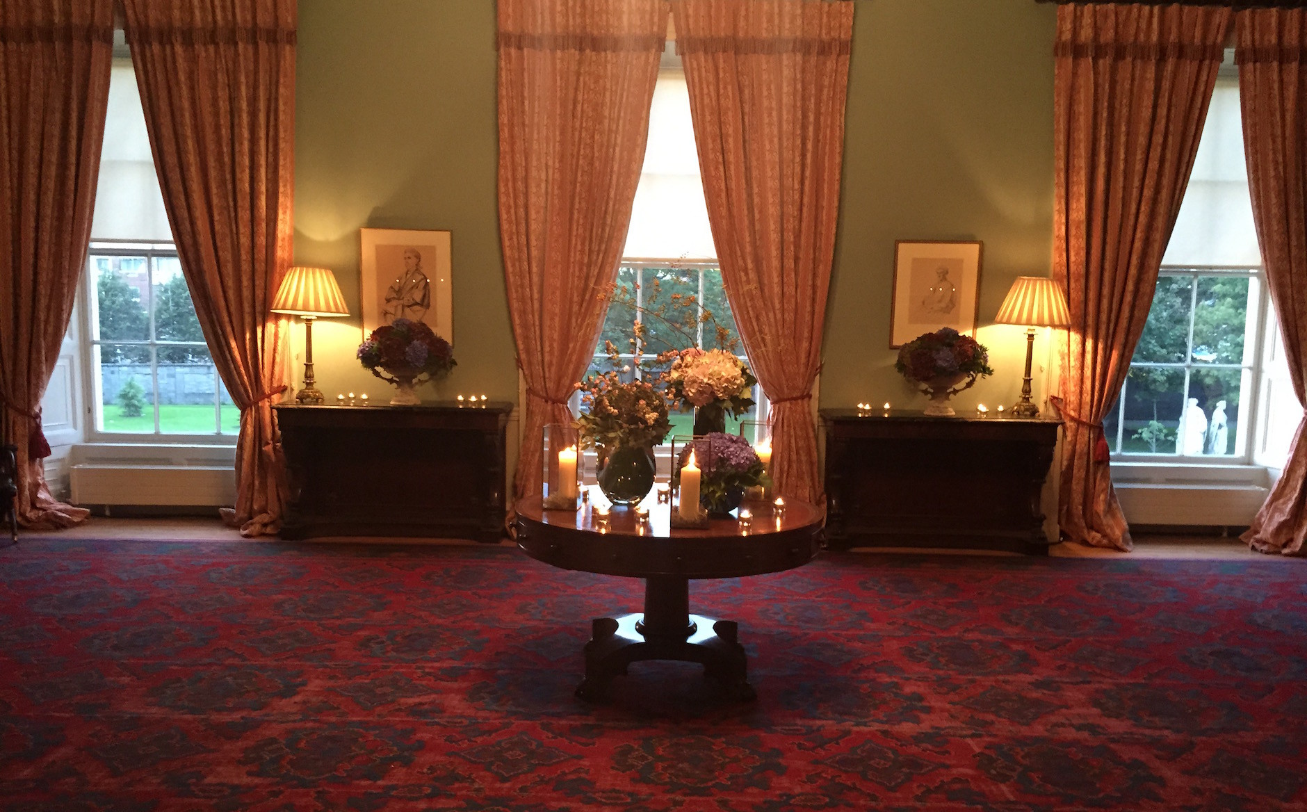 Lighting sets the theme of the event